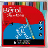 Berol Colour Fine Pens with Washable Ink 0.6mm Line Wallet Assorted Ref 2057599 [Pack 12]