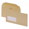 Postmaster Envelopes Wallet Gummed with Window 80gsm Manilla DL [Pack 500]