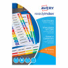 Avery ReadyIndex 1-5 Punched Mylar-reinforced Multicolour-Tabs 200gsm A4 White Ref 01733501