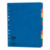 Europa File Dividers Plain 10-part Extra-wide A4 Multi-coloured Ref 2410E