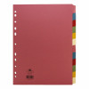 Concord Subject Dividers 12-Part Multipunched 160gsm A4 Assorted Ref 71499/J14