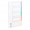 Concord Dividers 5-Part Polypropylene Reinforced Coloured-Tabs 120 Micron A4 White Ref 06801