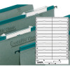 Rexel Crystalfile Classic Card Inserts for Linked File Extra-deep Tabs White Ref 78290 [Pack 50]