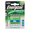 Energizer Battery Rechargeable Advanced NiMH Capacity 800mAh LR03 1.2V AAA Ref E300624400 [Pack 4]