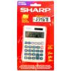 Sharp Handheld Calculator 8 Digit 3 Key Memory Solar and Battery Power 71x17x116mm Silver Ref EL240SAB
