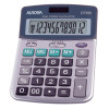 Aurora Semi-desk Calculator 12 Digit 3 Key Memory Battery/Solar Power 103x30x138mm Grey Ref DT398