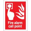 Stewart Superior Fire Alarm Call Point Sign W150xH200mm Self-adhesive Vinyl Ref FF073SAV