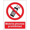 Stewart Superior Mobile Phones Prohibited Self Adhesive Sign Ref P087SAV