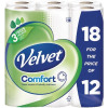 Velvet Comfort Toilet Rolls 116x104.5mm 210 Sheets 24.4m 2-ply White Ref 1102048 [Pack 18]