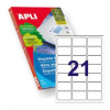 Apli 2414 Laser/Inkjet Labels 63.5x38.1mm    21up