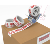 Polypropylene Printed Tape Fragile Red On White 48mm X 66m Pack 36