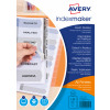 Avery Index Maker Divider 10-Part Unpunched A4 White 01816061