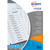 Avery Index Mylar A-Z 26-Part Punched Mylar-reinforced Tabs 150gsm A4 White Ref 05231061