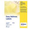 Avery Easy Address Labels Dot Matrix Word Processor 4 per FanFold 89x37mm White Ref EAL01 [500 Labels]