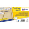 Avery Franking Label QuickDRY 140x38mm 2 Per Sheet White (Pack of 1000) FL01