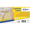 Avery 157x39mm White Franking Label FL07