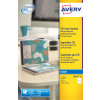 Avery CD DVD Insert Inkjet QuickDRY Matt White (Pack of 25) J8435-25