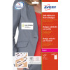 Avery Self-Adhesive Laser Name Badges 75X40 White Pack 20