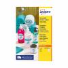 Avery Removable Labels 51mm dia 15 P/Sht Wht (Pack of 375) L4853REV-25