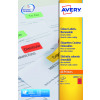 Avery Coloured Labels Removable Laser 24 per Sheet 63.5x33.9mm Red Ref L6034-20 [480 Labels]