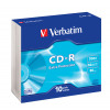 Verbatim DataLife 80min 52x Speed CD-R with Non-Printable Surface and Slim Case (Pack of 10) 43415