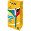 Bic 4 Colour Ballpoint Pen Retractable Medium Black /Blue /Red/Green (Pack of 12) 801867
