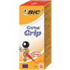 Bic Red Cristal Grip Medium Ballpoint Pen (Pack of 20) 802803