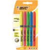 Bic Brite Liner Grip Highlighter Pen Chisel Tip 1.6-3.4mm Line Yellow Ref 824758 [Wallet 5]