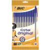 Bic Cristal Ballpoint Pen Medium Blue (Pack of 10) 830863