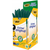 Bic Cristal Ballpoint Pen Medium Green (Pack of 50) 8373629