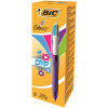Bic 4 Colours Fashion Ballpoint Pen Pink/Purple/Blue /Green (Pack of 12) 887777