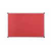 Bi-Office Aluminium Trim Felt Noticeboard 1200x900mm Red FA0546170