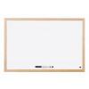 Bi-Office Basic Whiteboard Pine Frame Melamine 600 x 400 mm