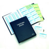 Durable Visitors Book Leather Look 300 Badge Inserts 80gsm W90xH60mm Ref 1465-00