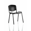 ISO Stacking Chair Black Poly Black Frame Without Arms