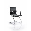 Cross Cantilever Executive Black Faux Leather Chair With Arms