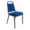 Banqueting Stacking Visitor Chair Black Frame Blue Fabric