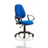 Eclipse I Lever Task Operator Chair Blue With Loop Arms