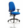 Eclipse XL Lever Task Operator Chair Blue With Height Adjustable Arms