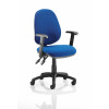 Luna II Lever Task Operator Chair Blue With Height Adjustable Arms