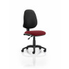 Eclipse I Lever Task Operator Chair Bespoke Colour Seat Maroon