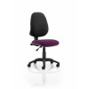 Eclipse I Lever Task Operator Chair Bespoke Colour Seat Purple