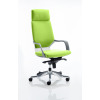 Xenon Headrest White Shell Bespoke Colour Lime