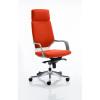 Xenon Headrest White Shell Bespoke Colour Orange