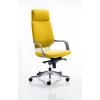 Xenon Headrest White Shell Bespoke Colour Yellow