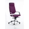 Xenon Headrest White Shell Bespoke Colour Purple