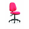 Luna II Lever Task Operator Chair Burgundy Without Arms