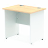 Impulse Panel End 800/600 Rectangle Desk Maple Top White Panels