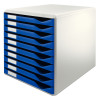Leitz 10 Drawer Form Set Blue/Grey 5281-0035