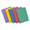 Europa Notebook Sidebound Twin Wire 90gsm Ruled Micro Perf 120pp A5 Assorted Colour Ref 4850Z [Pack 10]
